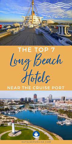 Are you searching for pre-cruise or post cruise hotels in Long Beach, California? This is a popular destination point for Princess Cruises & Carnival Cruises. Here are the 7 best hotels near the cruise port in Long Beach. If your cruise vacation departs from this port these hotels offer a variety of amenities for every cruiser. Whether your tastes run to traditional hotel accommodations, a modern vibe, or stepping back in time to a night on the Queen Mary there is something for everyone. Cruise Excursions, Cruise Destinations, Cruise Port, Cruise Tips, Cruise Travel, Cruise Vacation, Long Beach Hotel, Beach Hotels, Cruises Carnival