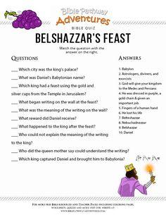 Belshazzar's Feast Bible quiz for Kids Bible Resources, Bible Activities, Bible Games, Bible Trivia, Preschool Bible, Preschool Activities, Bible Study For Kids, Bible Lessons For Kids, Bible Quiz