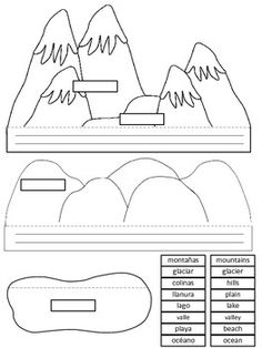 LANDFORMS / ACCIDENTES GEOGRAFICOS. Layered Shapebook in E