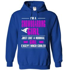 Snowboarding Girl Is Cooler T-Shirt