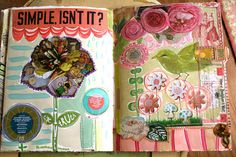journal pages by pam garrison Use crochet flowers. Nancy Bettac Barton, grammacozy62