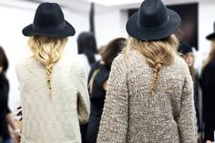 loose braid and hat
