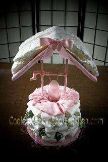 wishing well diaper cake