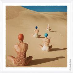 "Vogue Magazine ""Models on Sand Dune"" Fine Art"