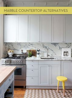 Get the look of marble without the maintenance!