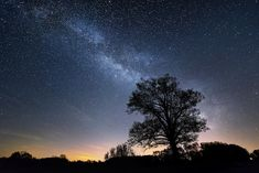 Farm Country Night Sky Milky Way over Northern Ionia County, Michigan