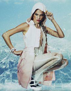 sport.  Model: Regina Feoktistova   Photographer: Andrew Yee   Styling by Damian Foxe