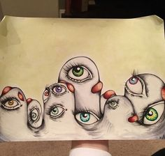 I Was Diagnosed With Schizophrenia At The Age Of 17, So I Started Drawing My Hallucinations To Cope With It   Bored Panda
