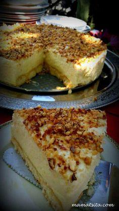 τούρτα λεμόνι. !!!! Greek Sweets, Greek Desserts, Party Desserts, Summer Desserts, Lemon Recipes, Sweets Recipes, Cake Recipes, Food Network Recipes, Food Processor Recipes