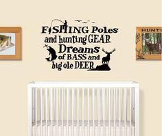 Boys Hunting Room, Hunting Theme Nursery, Hunting Bedroom, Fishing Nursery, Hunting Baby, Boy Nursery Themes, Boy Fishing, Hunting Gear, Women Fishing