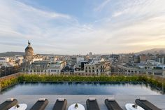 The Terrat rooftop terrace pool and bar at the [b]Mandarin Oriental Barcelona[/b], which overlooks the city's central Eixample neighbourhood, at the top of the Ramblas.