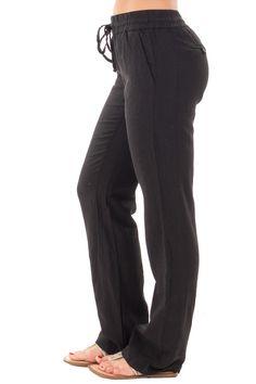 Lime Lush Boutique - Black Linen Drawstring Pants, $28.99 (https://www.limelush.com/black-linen-drawstring-pants/)