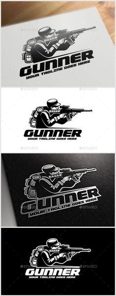 Gunner Logo Template — Vector EPS #modern #simple • Available here → https://graphicriver.net/item/gunner-logo-template/11297227?ref=pxcr