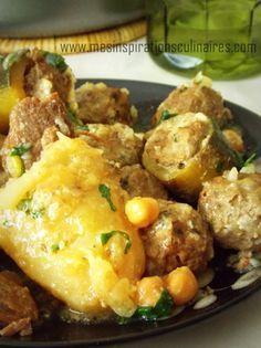 Un plat typiquement algérien des légumes farcis a la viande hachée et arrosées de sauce blanche parfumée a la cannelle, citron et persil. un plat pour le ramadhan 2013.