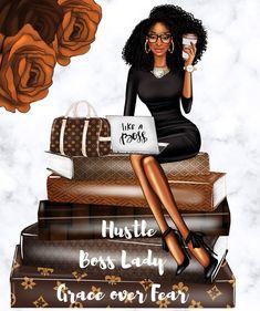 Black Love Art, Black Girl Art, Black Girl Magic, Art Girl, Black Women Quotes, Arte Black, Happy Planner Cover, Black Girl Cartoon, Black Art Pictures