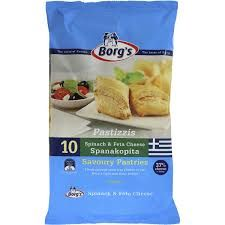 Borg's Spanakopita Frozen Spinach & Fetta Pastizzi on special Savory Pastry, Flaky Pastry, Frozen Spinach, Spinach And Feta, Frozen Party Food, Spanakopita, Snack Recipes, Chips, Breakfast