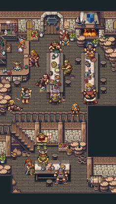 Vikings Tavern - Nice pixel art I found on Pixel Joint - Bryan