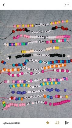 make friendship bracelets PLS