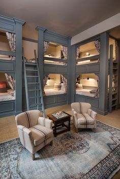 Dream Home Design, Tiny House Design, My Dream Home, Room Ideas Bedroom, Home Bedroom, Bedroom Decor, Girls Bedroom, Bunk Bed Rooms, Bunk Beds Built In