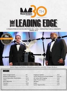Check out the Spring 2015 edition of Wayne Brothers' Newsletter, the Leading Edge, for all Project, HR, and Company updates!   http://www.waynebrothers.com/News/Newsletters.aspx