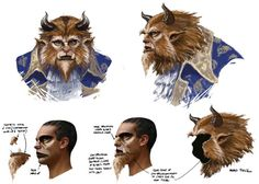 "athelephathryn:  Design for the ""Beast"" make-up for the New Zealand tour, by Weta Workshop."