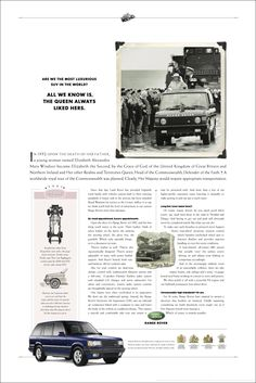 Range Rover Classic, Land Rover Truck, Defender Of The Faith, Car Brochure, Life Inspiration, Vintage Advertisements, Vintage Cars, Landing, Classic Cars