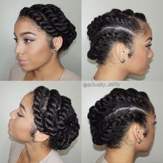 #tbt to this gorgeous flat twist style! Perfect for when you want to give your hair a break. Tutorial is over on my channel ❤️ #flattwist #protectivestyles