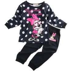 Cute Minnie Mouse Clothes For Baby Toddler Girls Clothing Sets Kids Clothes Children Casual T Shirt + pant