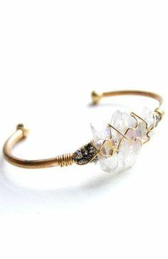 Opalescent Crystal Cuff