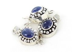TANZANITE CLASP STERLING SILVER OVAL DOT DESIGN from New World Gems