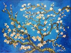 How to Paint Van Gogh's Almond Tree by Ginger Cook - Beginner Acrylic Painting Tutorial - YouTube
