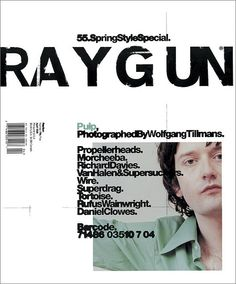 Ray Gun was an American alternative rock and roll magazine, first published in 1992 led by founding art director David Carson. David Carson is best known for his innovative magazine designs and dec… Poster Sport, Poster Cars, Poster Retro, Gig Poster, David Carson Design, David Carson Work, Paula Scher, Graphic Design Posters, Graphic Design Typography