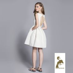 Maria Westerlind dress Uma, light-beige, ss15, www.mariawesterlind.com Light Beige, Ss 15, Spring Summer 2015, That Look, White Dress, Dresses For Work, Collection, Fashion, White Dress Outfit
