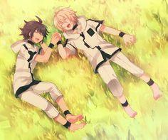 Tags: Anime, Pixiv Id 226794, Owari no Seraph, Hyakuya Mikaela, Hyakuya Yuuichirou, Friends