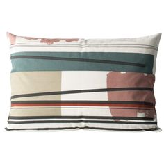 Color Block Cushion 2 (Large) Designed by Trine Andersen Large Cushions, Decorative Cushions, Modern Throw Pillows, Color Blocking, Colour Block, Scandinavian Living, Nordic Design, Kid Spaces, Kids Room