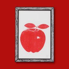 Big Apple Art Print | Red A3