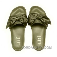 http://www.jordannew.com/puma-x-fenty-bow-slides-olive-branchpuma-silver-women-sandals-style-number-36577401-online.html PUMA X FENTY BOW SLIDES OLIVE BRANCH-PUMA SILVER WOMEN SANDALS STYLE NUMBER 365774-01 ONLINE Only $75.97 , Free Shipping!