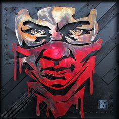 rnst pochoir metal rude boy | RNST artiste pochoir stencil | Flickr