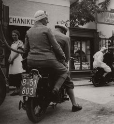 Robert Haas' On A Motorcycle, Burgenland, 1937 (via here) Old Motorcycles, Museum, Vintage Travel, Historical Photos, Ephemera, High Fashion, Art Photography, Culture, Black And White