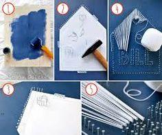 colorful easy word string art tutorial fadenbilder. Black Bedroom Furniture Sets. Home Design Ideas