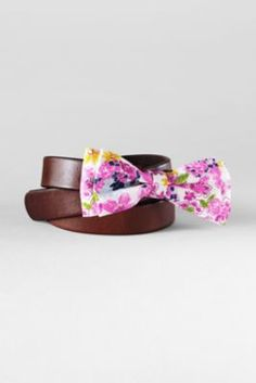Girls' Bow Belt from Lands' End to make that boring uniform Pop!  #zulily  #fall