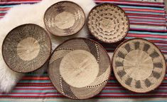 African Basket Group Design Service - DO NOT BUY - Binga Basket, Wall Basket Set, Eclectic Decor, Boho Style - Contact me for this service. Baskets On Wall, Wall Basket, Wall Decor Set, Eclectic Decor, Basket Weaving, Boho Decor, Service Design, Wicker, African