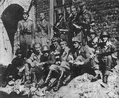 """On August 1, 1944, some 40,000 Polish Home Army soldiers, including 4,000 women, rose up against German occupiers.  Heinrich Himmler quickly sent in more troops and began aerial bombardments. Moscow withheld the help Poles had expected from Red Army troops just outside the city. One Polish patriot wrote, """"We are waiting for you, red plague/To deliver us from black death."""""""