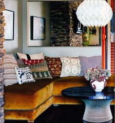 Boho interiors - it's all about a mix of rich colors and patterns.