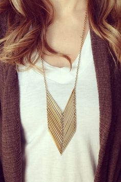 CHEVRON NECKLACE | Purpose Jewelry (Purpose jewelry is handcrafted by survivors of modern-day slavery. 100% of the proceeds benefit International Sanctuary, a non profit that provides holistic care for young women rescued from sex trafficking.)