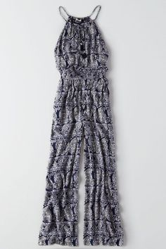 Take your look from day to night with this versatile, easy piece.  Shop the AEO Hi-Neck Wide Leg Jumpsuit  from American Eagle Outfitters. Check out the entire American Eagle Outfitters website to find the best items to pair with the AEO Hi-Neck Wide Leg Jumpsuit .