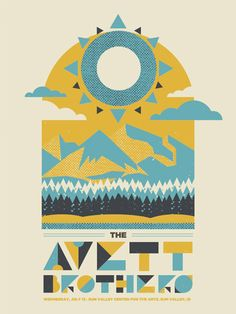 Love the texture, color, and type on this Avett BRothers poster by The Silent Giant #screenprint