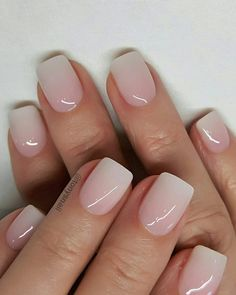 40 Lovely Nail Art Designs 2019 Must Try Explore Your Creative And Elegant Side Square Nails Engagment Nails With a small amount of the fine gold glitter on the nail polish brush, lightly paint two thirds of the top part of the nail Picture Credit Cute Nails, Pretty Nails, Romantic Nails, Nagel Blog, Nail Pictures, Nail Polish, Dipped Nails, Neutral Nails, Nagel Gel
