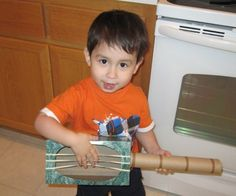 Green Crafts: How to Make a Guitar Toy Out of Recycled Things, A Fun Craft Activity for Kids