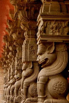 Explore amazing art and photography and share your own visual inspiration! Indian Temple Architecture, India Architecture, Religious Architecture, Ancient Architecture, Beautiful Architecture, Temple India, Hindu Temple, Hindu Statues, Fu Dog